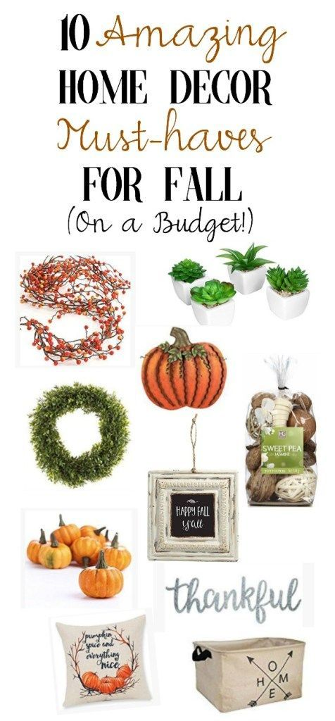 10 Amazing Home Decor Must Haves For Fall On A Budget Mama Bear Bliss Easy Fall Decor Simple Halloween Decor Rustic Fall Decor