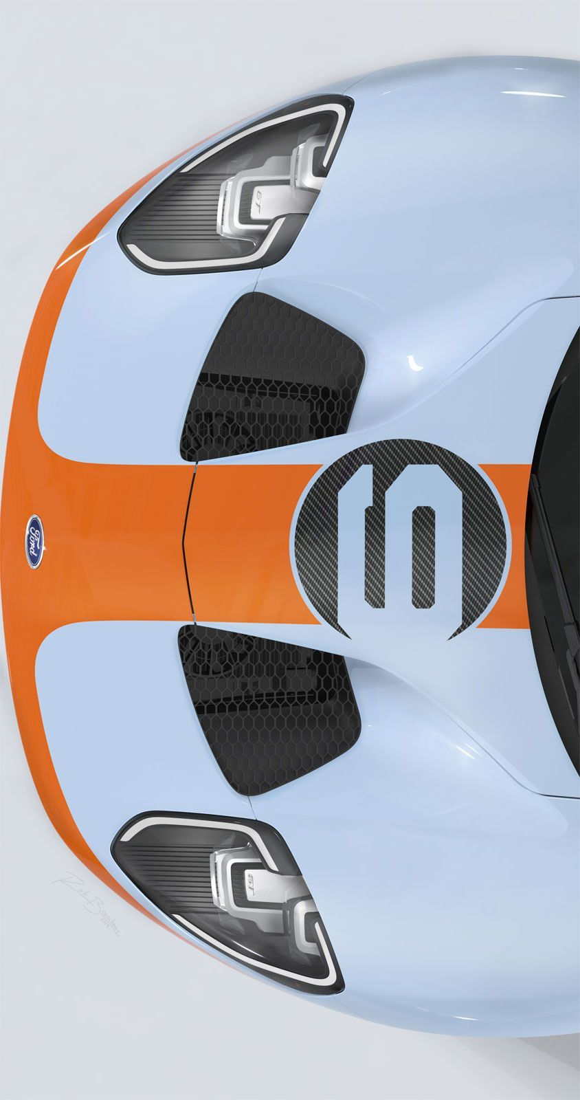 Hood Design Detail Of The 2019 Ford Gt Heritage Edition Ford Gt