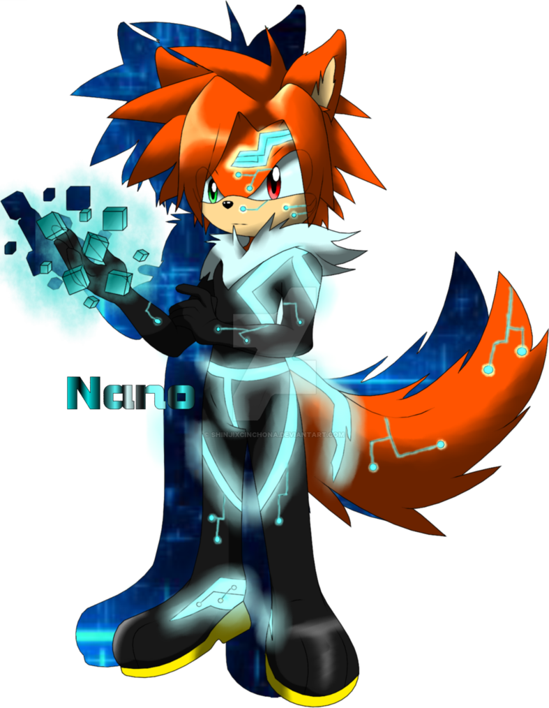 Wolf Sonic Character Oc Nano The Wolf Sonic Oc By Shinjixcinchona