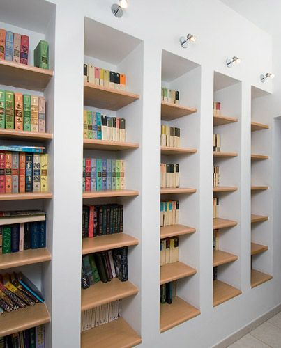 Modern Home Library Design Lighting Ideas For Bookcases And