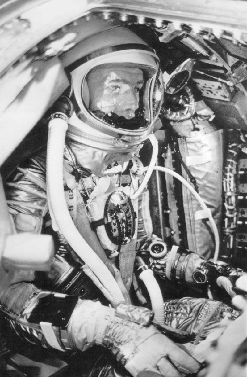 SEALAB Aquanaut Scott Carpenter as a NASA Mercury MA-7/Aurora 7 Astronaut (1962)