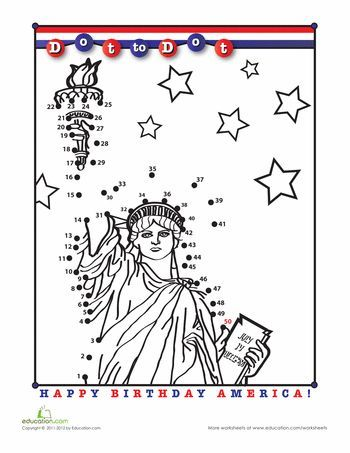 Statue Of Liberty Dot To Dot Patriotic Symbols American Symbols