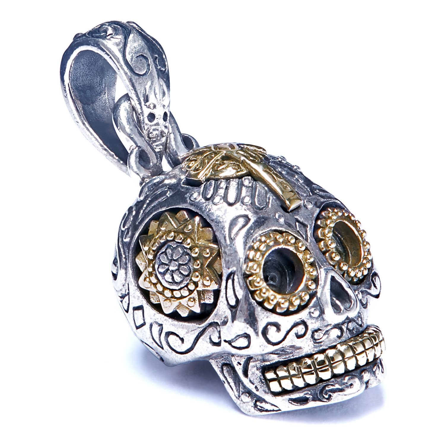 zirconia men and for itm large necklace cubic sugar skull women with zfldcyrl steel pendant