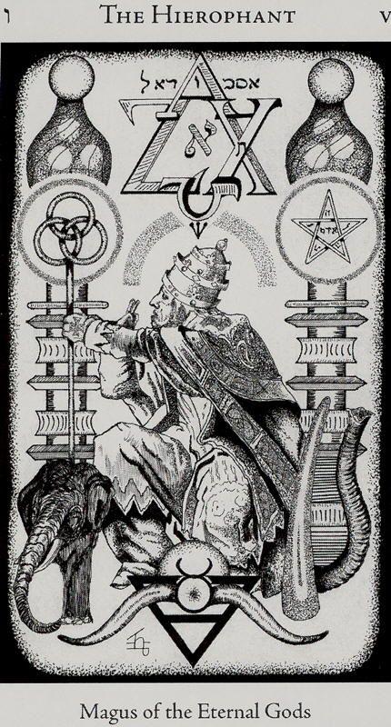 hierophant, hermetic tarot           •●      {X+X∞} ................. andraaj repin 2015 S/S Anuubis