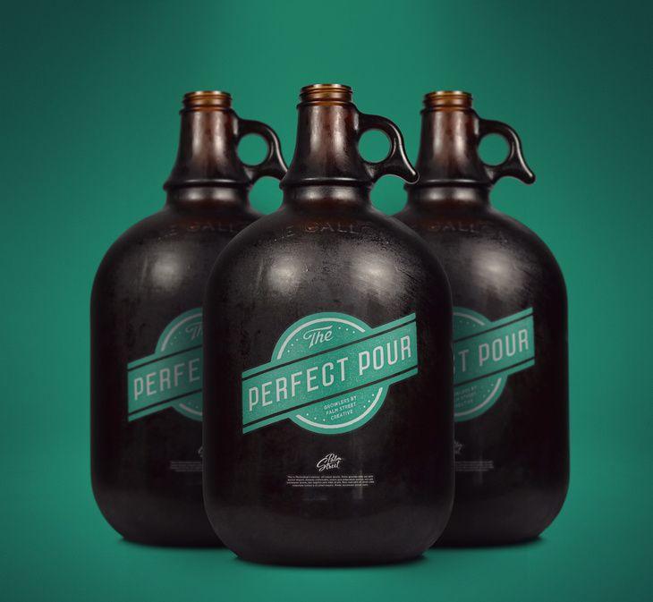 Free Gallon Growler Mock Up Bottle Mockup Bottle Liquor Bottles