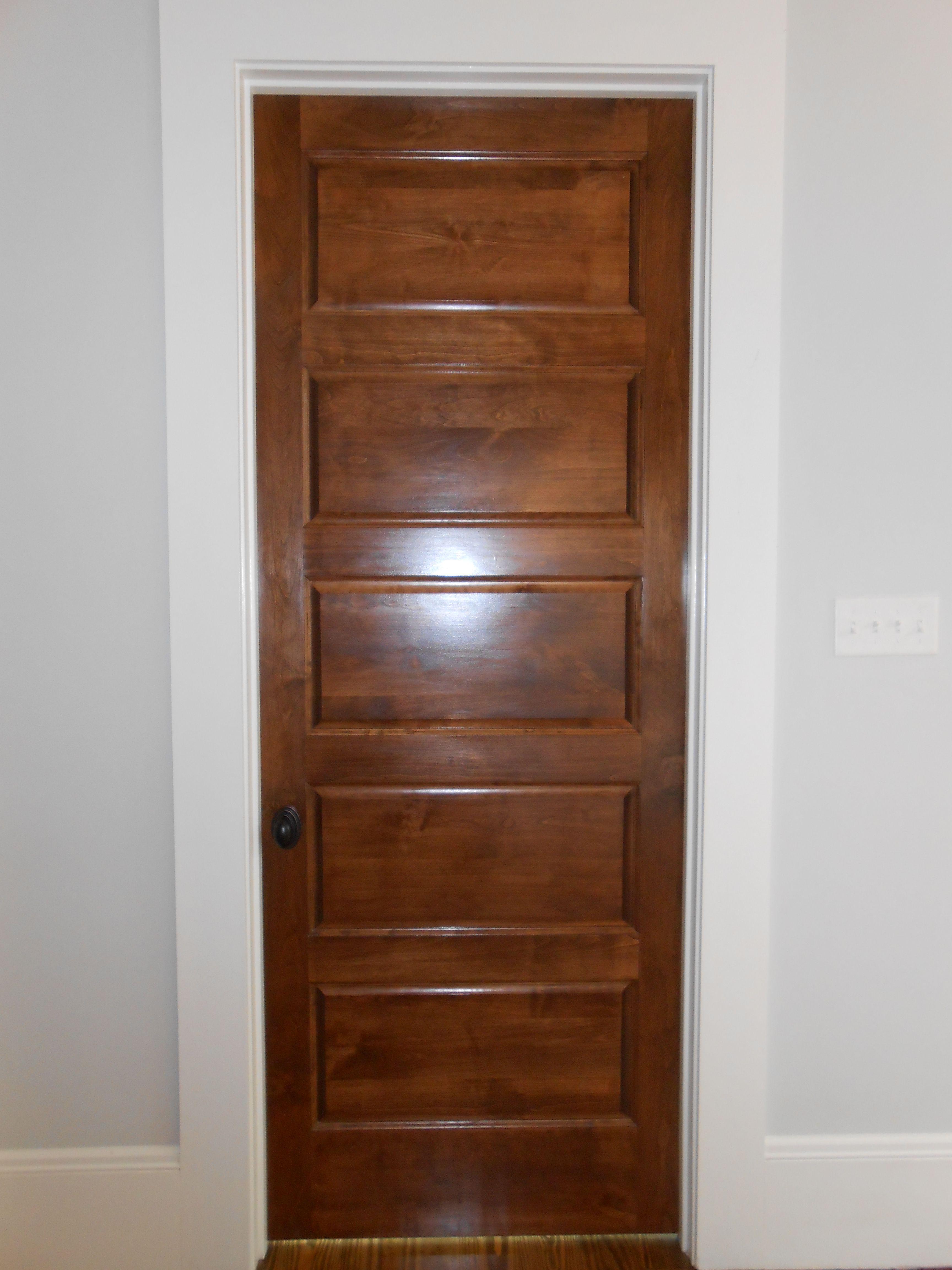 Custom Built 5 Panel Wood Door Interior Doors Stained Stained
