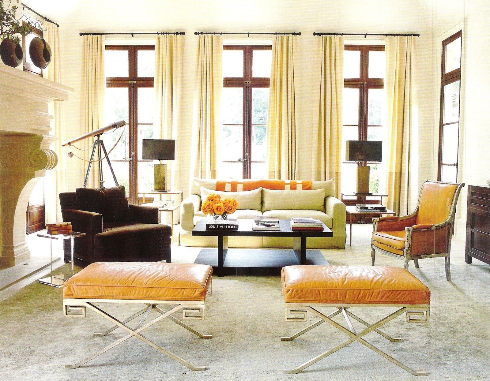 Hermes Living Room Interior Design By Suzanne Kasler Detailing Thierry Francois John Oetgen And William T Architecture