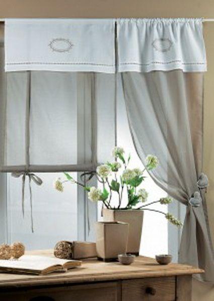 Sin fruncir cocina - Visillos para dormitorios ...