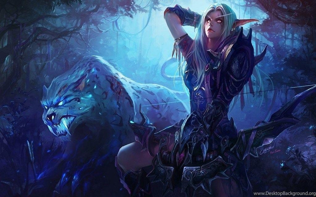 1920x1200 Wow Night Elf Hunter Wallpapers World Of Warcraft Wallpaper Warcraft Art World Of Warcraft