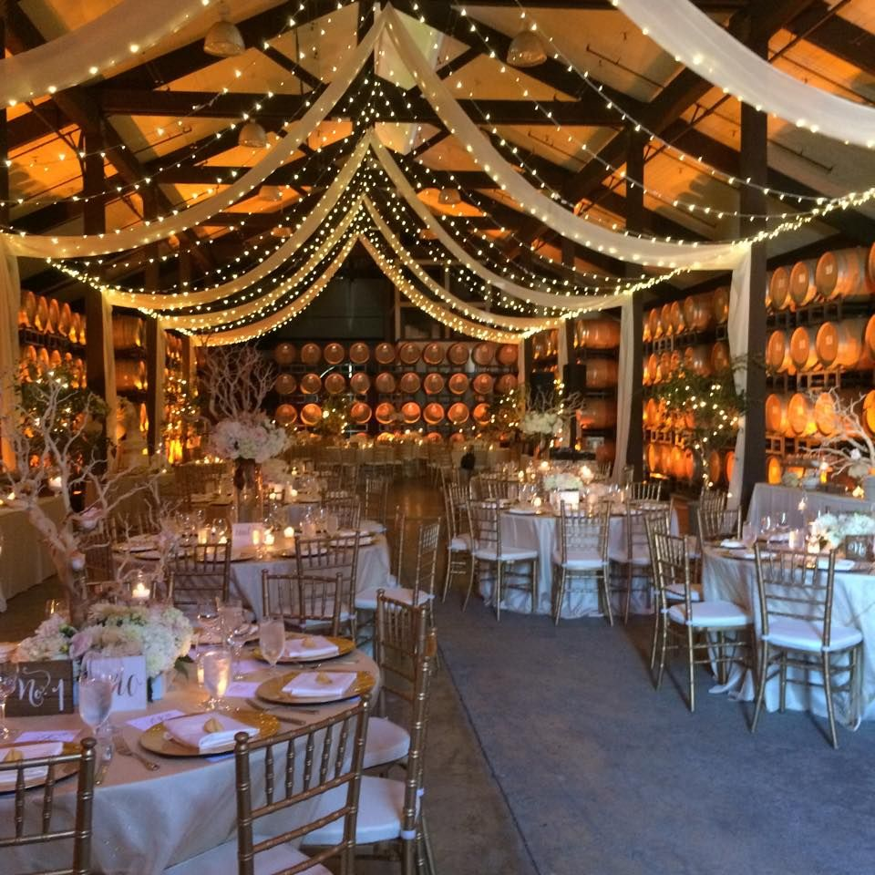 Organza Drapery & Twinkle Lights Create The Fantasy