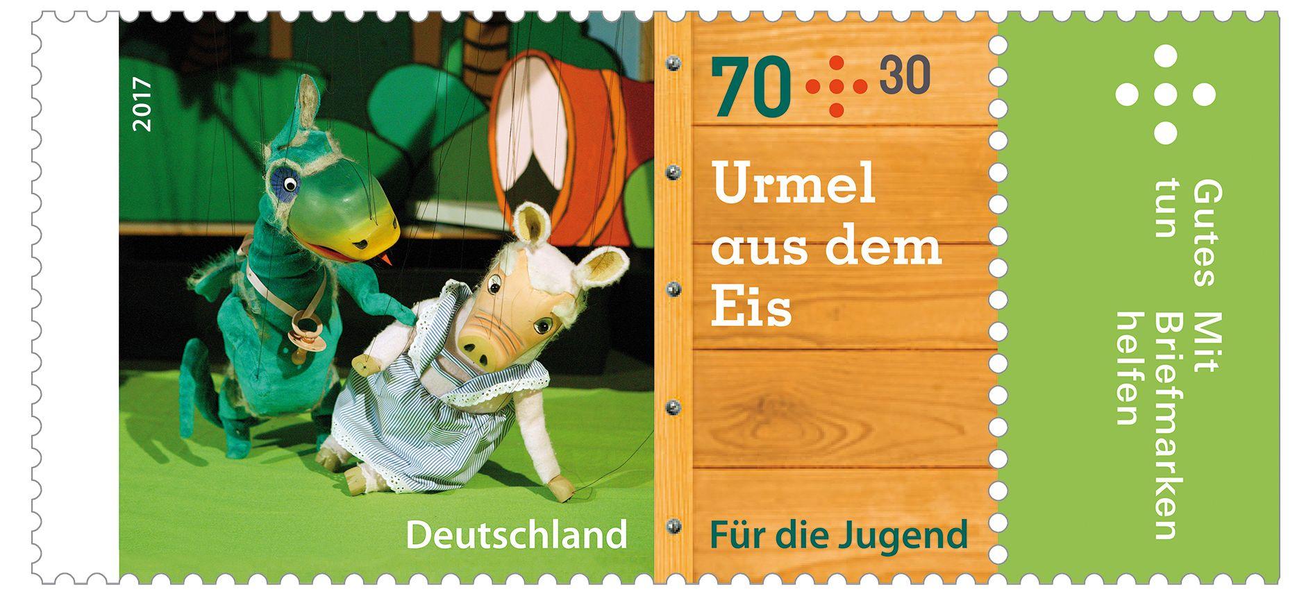 Deutschland 2017 Augsburger Puppenkiste Urmel Aus Dem Eis Germany Wind Sock