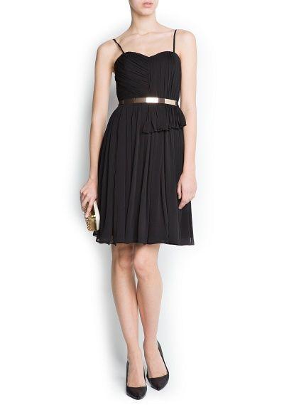Vestido negro mango outlet