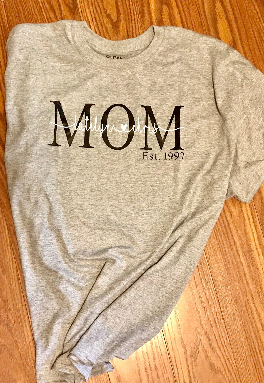 Mom T Shirt Mother S Day Shirt Kids Names Shirt Custom Mom Shirt
