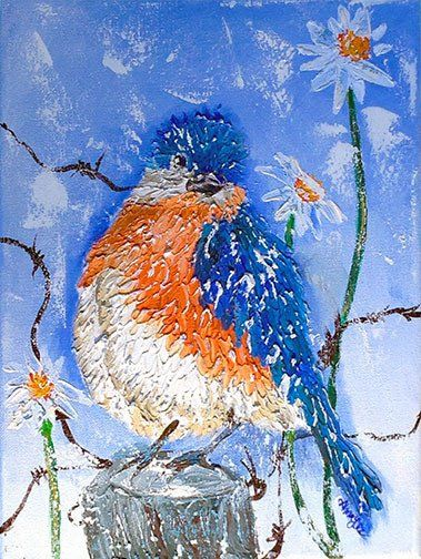 Bluebird and a Wink by Alma Lee