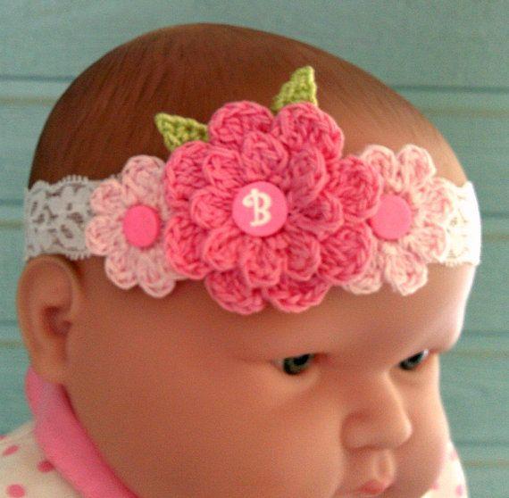 f68b1dde1f1 Baby Headband Photo Prop Crochet Baby Headband by OneGirlsPatterns ...