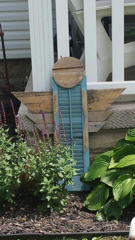 Wooden Garden Angel - Garden Inspiration