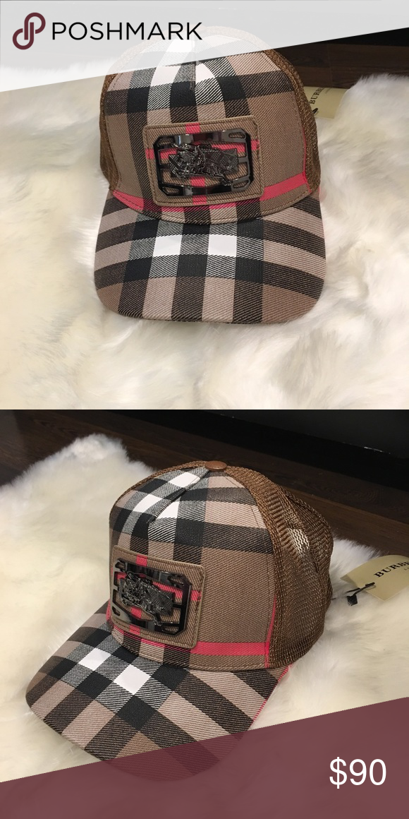 71fe947574f79 Burberry hat New with tags plaid hat. Adjustable strap. Unisex Burberry  Accessories Hats