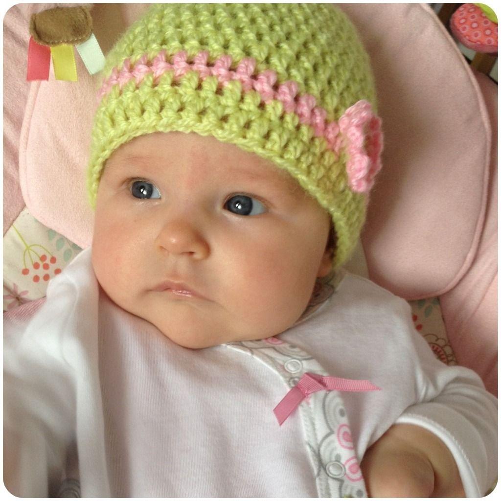 Super Easy Double Crochet Baby Hat Free Pattern