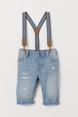 RALPH LAUREN Polo Girls Denim Short Overall Suspender