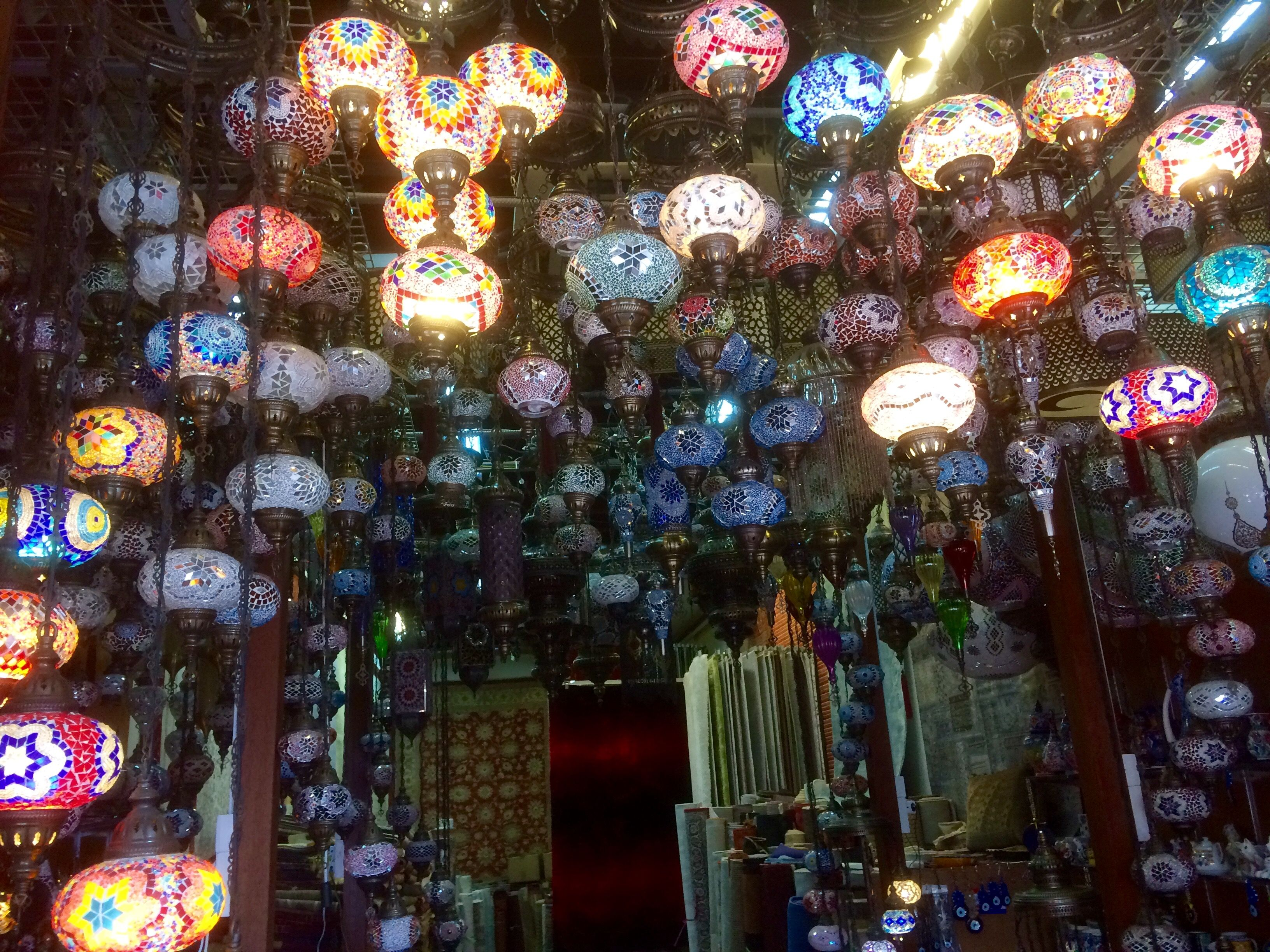 Colourful Lighting Shop Along Arab Street Shop Lighting Light Colors Holiday Decor