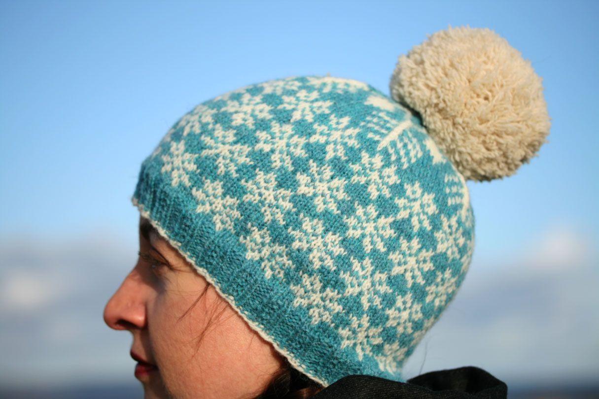 Snawheid Snowflake hat knitting pattern £2.75 (Kate Davies Designs ...