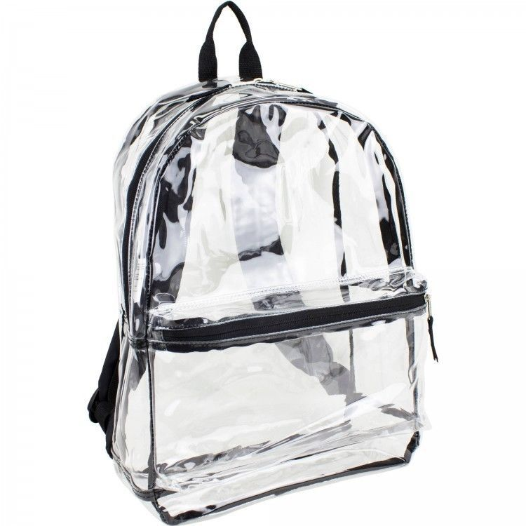 Details About Clear Backpack See Through Daypack Bag Work