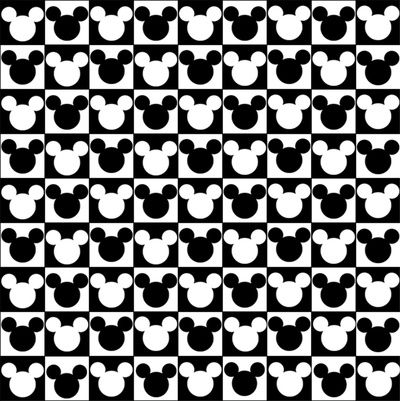 Mickey Mouse Checkered Head Art Print Pattern Pinterest