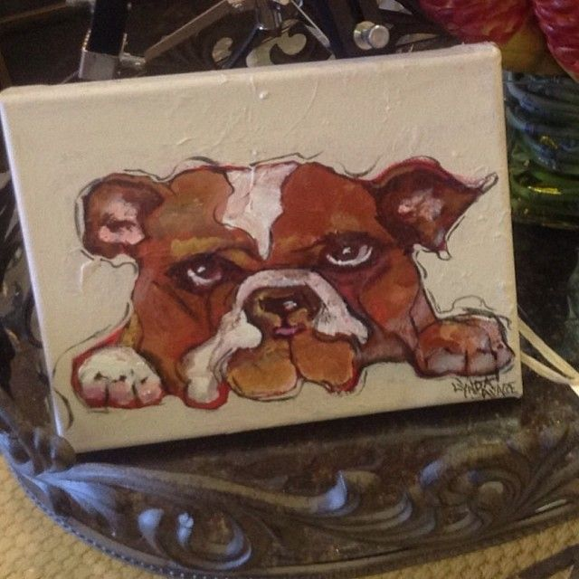 Incredibly adorable! Canvas portraits of your dog done at @Red Chateau