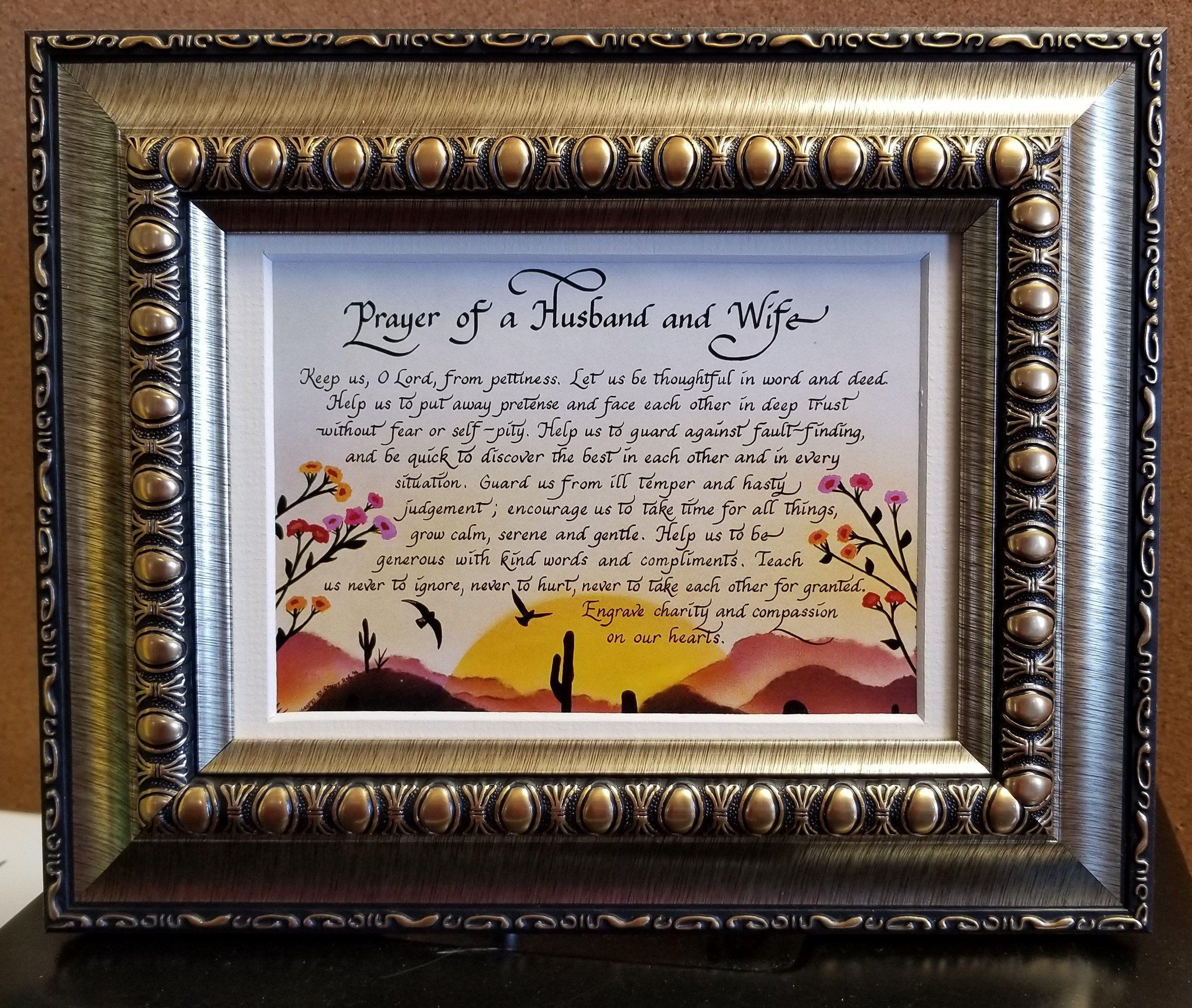 Prayer Of Husband And Wife Southwest Design Framed Desktop