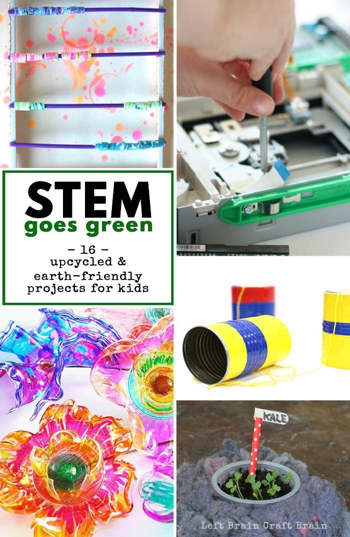Stem Goes Green 16 Upcycled And Earth Friendly Projects For Kids
