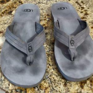 Mens UGG flip flops Gray size 10