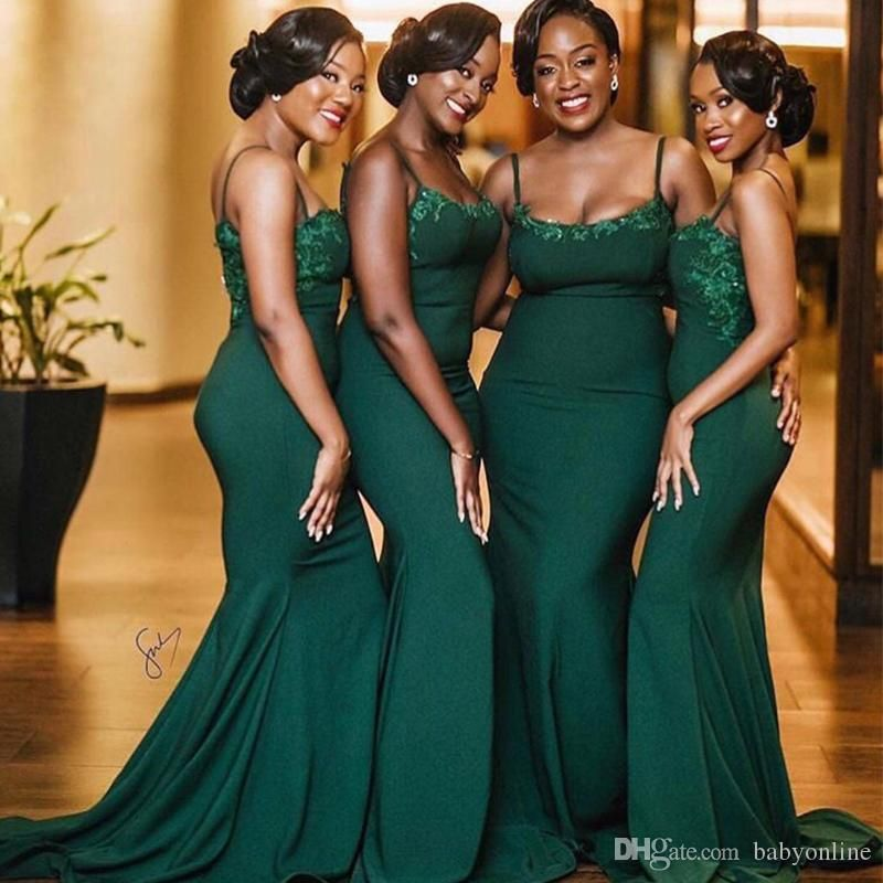 Dark Green Mermaid Bridesmaid Drseses For South African Country Summer Emerald Green Bridesmaid Dresses Dark Green Bridesmaid Dress Mermaid Bridesmaid Dresses,Maxi Dress For Wedding Pakistani 2018