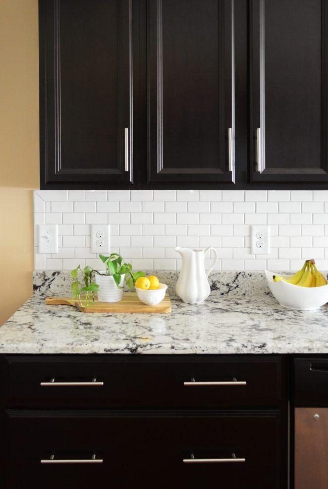 How To Install A Subway Tile Kitchen Backsplash Pinterest Subway