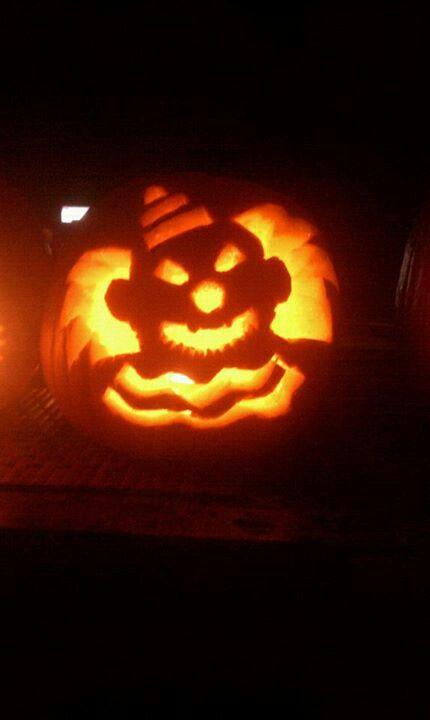 Halloween Clown Pumpkin Pumpkin Pumpkin Carving Halloween Clown