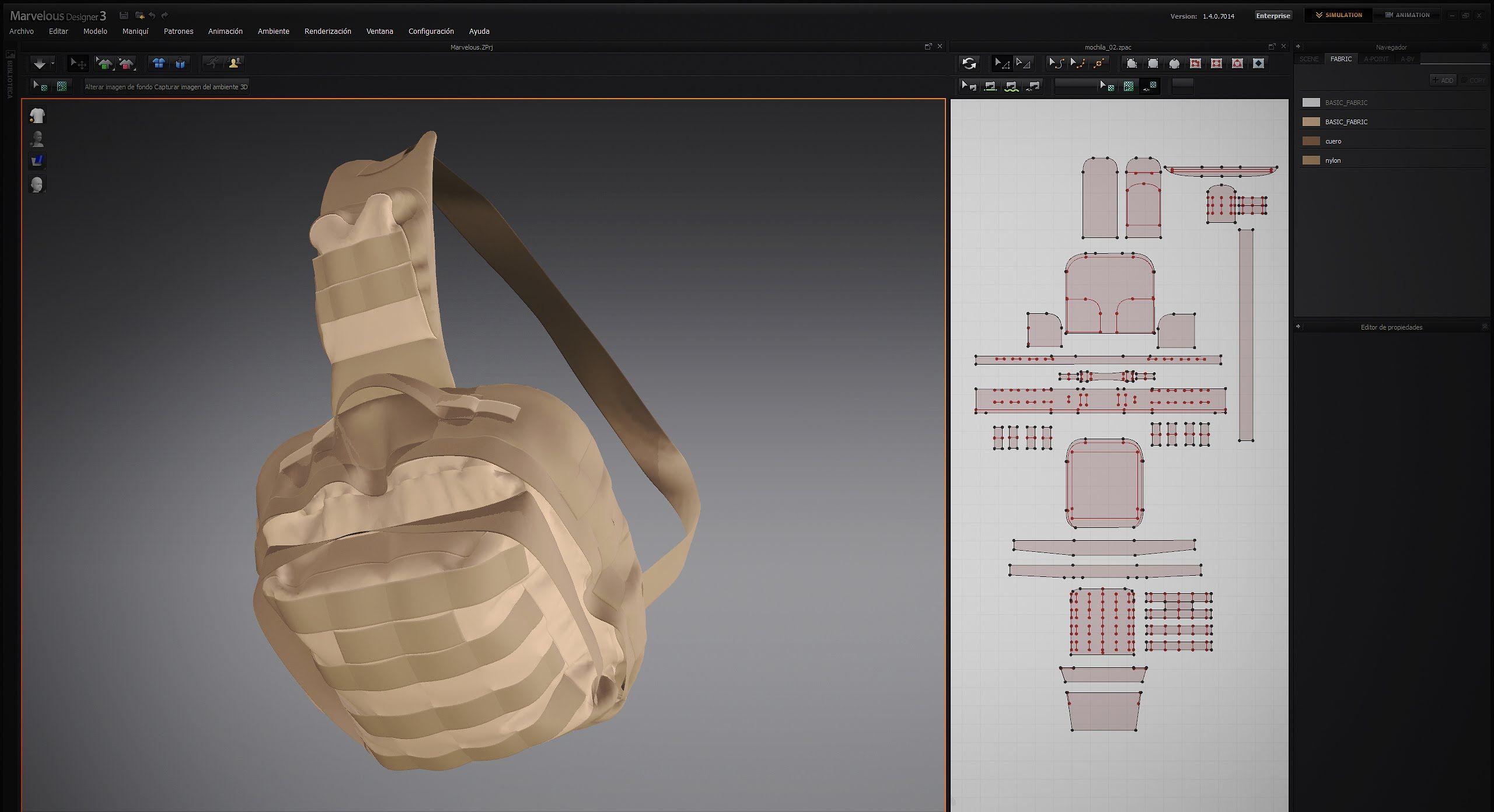 Mochila - backpack, Marvelous Designer