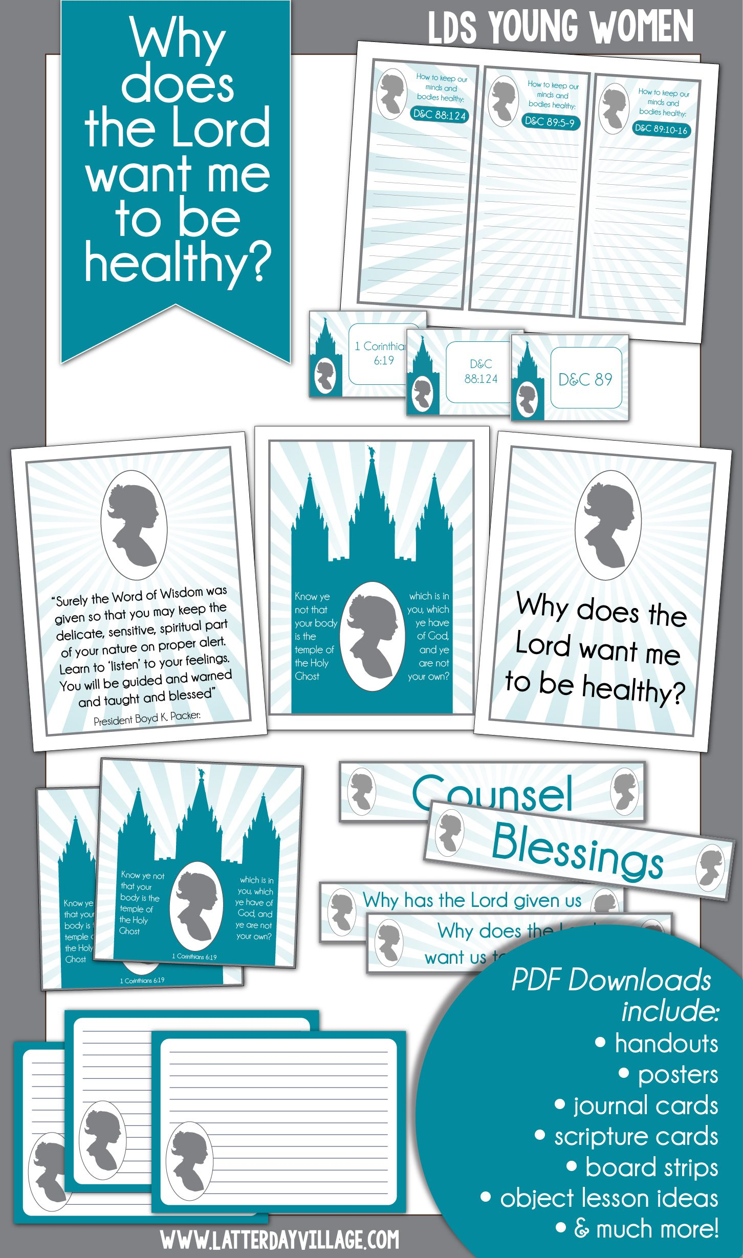 November Lds Young Women Lesson Helps Why Does The Lord Want Me To Be Healthy Handouts