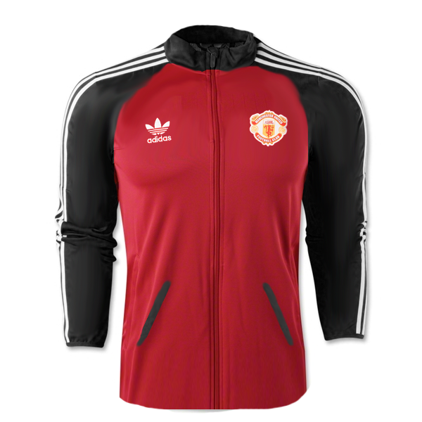 adidas Manchester United Superstar Track Top (RedBlack