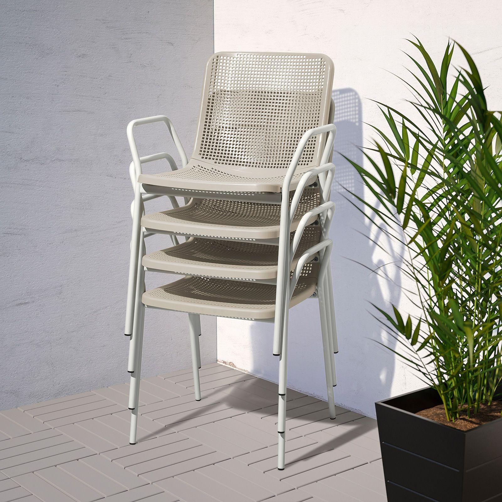 Torparo Armchair In Outdoor White Beige Ikea In 2021 Outdoor Dining Furniture Outdoor Dining Chairs Outdoor Furniture