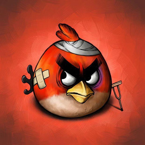 A realidade dos Angry Birds depois da batalha – por Scooterek