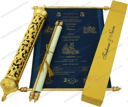 Wedding Invitations Scrolls Tubes: Royal Scroll To The Core! An Exquisite Vintage Scroll Card