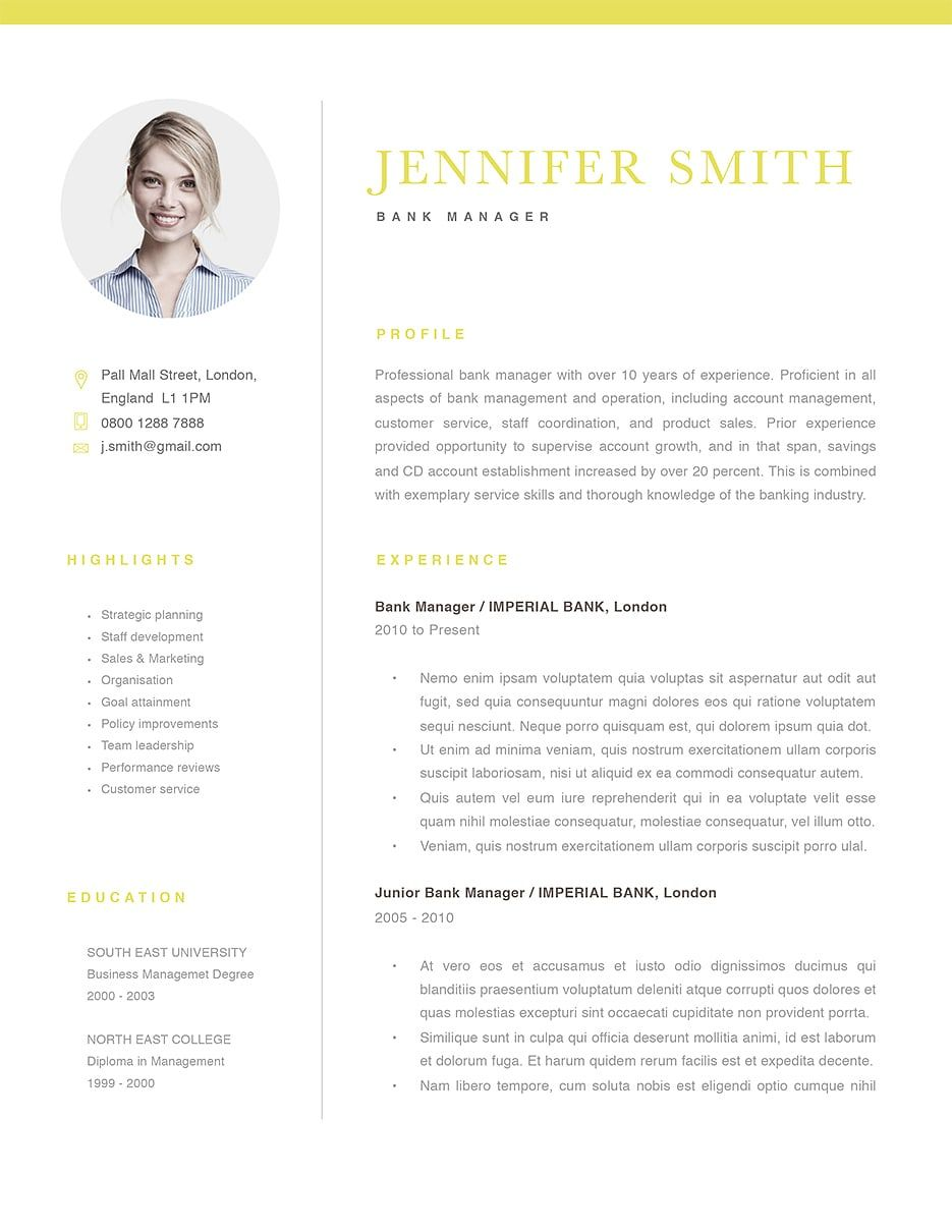 Classic Resume Template 120300 (color yellow - Resume templates, Resume template, Resume examples, Resume, Resume design, Resume template professional - Classic resume template 120300 (color yellow)  Choose from over 30 classic resume templates in Microsoft Word and iWork Pages  Fast and EasytoUse