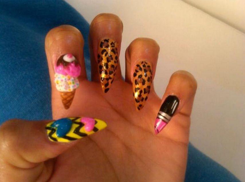 Nicki Minaj Ice Cream Cone Nails, also by Naomi Yasuda ...