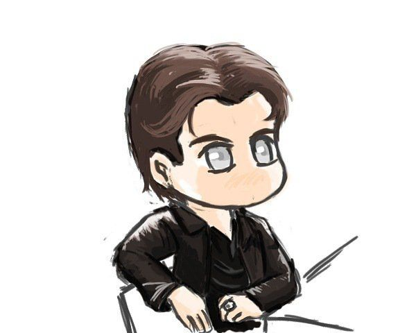 Chibi vampire diaries damon salvatore cartoon - Vampire diaries dessin ...