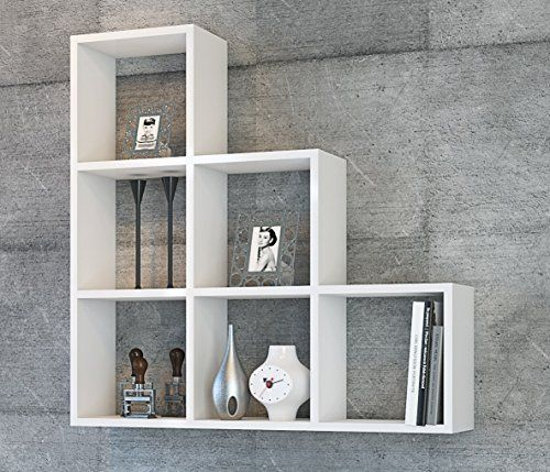 Yaman mensola da muro bianco mensola parete mensola - Libreria da camera ...