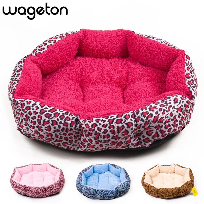 Vendas Hot Novo Estampa De Leopardo Colorido Cat And Dog Pet Cama Rosa Azul Marrom Amarelado Profundamente Rosa Tamanh Pink Dog Beds Dog Bed Pink Bedding