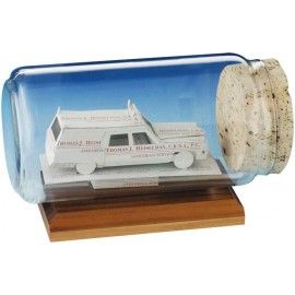 Cadillac ambulance shaped business card sculpture in a bottle ems these cadillac ambulance shaped business card sculptures in a bottles are a throwback to the past they are great awards for ems veterans and those serving colourmoves Image collections