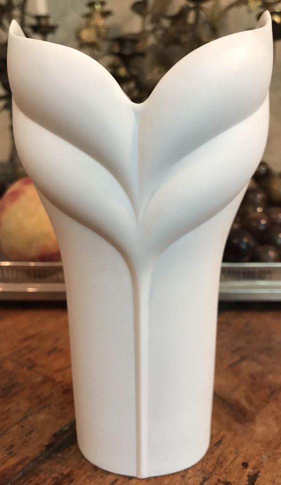 Details Zu Rosenthal Vase Design Uta Feyl Vintage Rar White Vases
