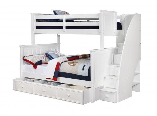 Etagenbett Ausziehbar : Weißes etagenbett mit ausziehbares bett bunk beds with stairs