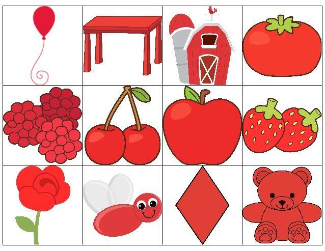 tarjetas-colores-rojo-azul-y-amarillo-1-638.jpg (638×493) | Actividades del  color, Objetos de color rojo, Enseñanza de colores