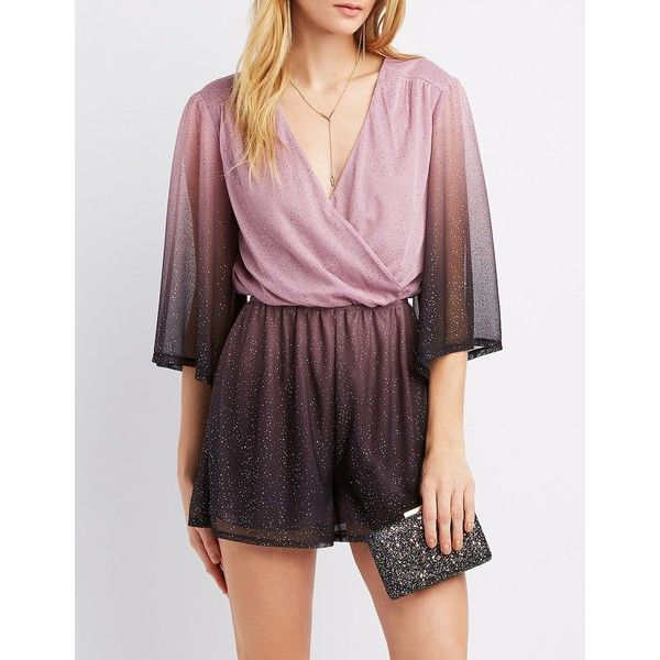 f9dcd4496fbf Charlotte Russe Surplus Kimono Romper ( 30) ❤ liked on Polyvore featuring  jumpsuits
